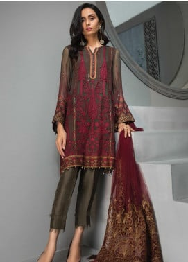 Tena Durrani Embroidered Chiffon Luxury Formal Collection 03 Marlene 2019