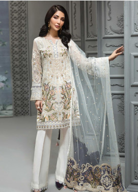 Jazmin Embroidered Chiffon Unstitched 3 Piece Suit JZ19C 04 TIFFANY SOUL - Luxury Collection