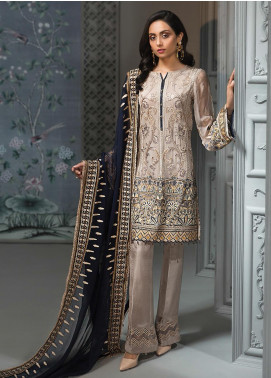 Jazmin Embroidered Chiffon Unstitched 3 Piece Suit JZ19C 08 MYRELLA - Luxury Collection