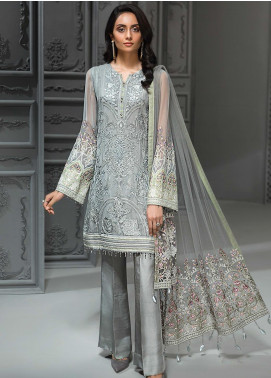 Jazmin Embroidered Chiffon Unstitched 3 Piece Suit JZ19C 10 ALLIORA - Luxury Collection