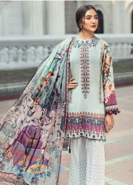 Jazmin Embroidered Lawn Unstitched 3 Piece Suit JIR19L 02 NORA - Spring / Summer Collection