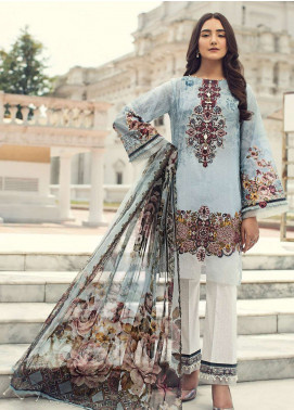 Jazmin Embroidered Lawn Unstitched 3 Piece Suit JIR19L 05 CLARA - Spring / Summer Collection