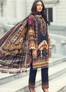 Jazmin Embroidered Lawn Unstitched 3 Piece Suit JIR19L 07 FANTASIA - Spring / Summer Collection