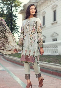 Jazmin Embroidered Lawn Unstitched 3 Piece Suit JIR19L 10 FIONA - Spring / Summer Collection