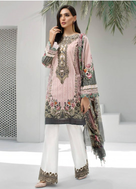 Jazmin Embroidered Lawn Unstitched 3 Piece Suit JIR19-L2 01 FREYA - Summer Collection