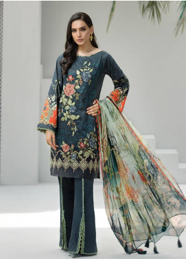 Jazmin Embroidered Lawn Unstitched 3 Piece Suit JIR19-L2 02 TIANA - Summer Collection