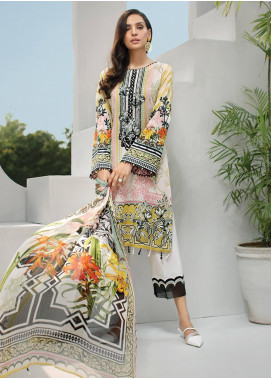 Jazmin Embroidered Lawn Unstitched 3 Piece Suit JIR19-L2 03 ARCADIA - Summer Collection