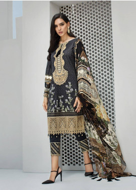 Jazmin Embroidered Lawn Unstitched 3 Piece Suit JIR19-L2 06 DELIA NOIR - Summer Collection
