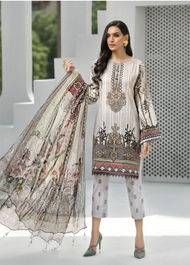 Jazmin Embroidered Lawn Unstitched 3 Piece Suit JIR19-L2 10 GYPSY FLEUR - Summer Collection