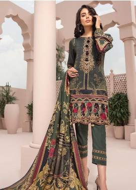 Jazmin Embroidered Linen Unstitched 3 Piece Suit JIR19LN 01 NAGINAH - Winter Collection