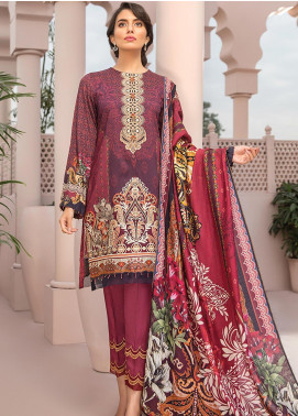 Jazmin Embroidered Linen Unstitched 3 Piece Suit JIR19LN 02 JAWAHAR - Winter Collection