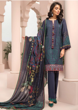 Jazmin Embroidered Linen Unstitched 3 Piece Suit JIR19LN 03 MAHSA - Winter Collection