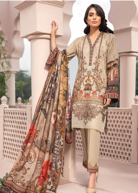 Jazmin Embroidered Linen Unstitched 3 Piece Suit JIR19LN 04 ELNAAZ - Winter Collection
