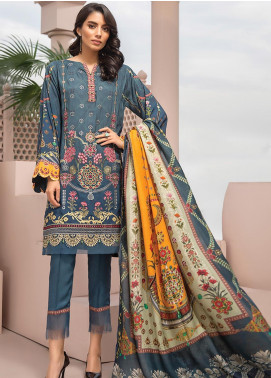 Jazmin Embroidered Linen Unstitched 3 Piece Suit JIR19LN 05 SARVENA - Winter Collection