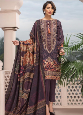 Jazmin Embroidered Linen Unstitched 3 Piece Suit JIR19LN 06 MESHIA - Winter Collection