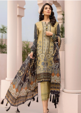 Jazmin Embroidered Linen Unstitched 3 Piece Suit JIR19LN 07 PARAS - Winter Collection