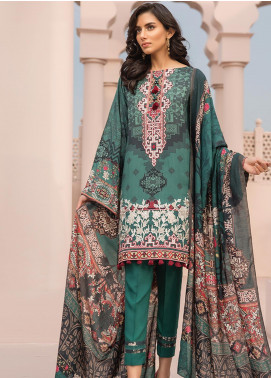 Jazmin Embroidered Linen Unstitched 3 Piece Suit JIR19LN 08 FIROUZA - Winter Collection