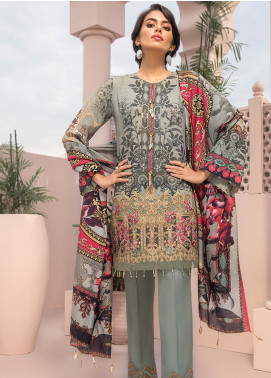 Jazmin Embroidered Linen Unstitched 3 Piece Suit JIR19LN 09 JEHAN - Winter Collection