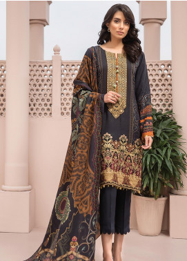 Jazmin Embroidered Linen Unstitched 3 Piece Suit JIR19LN 10 CHEHRAAZ - Winter Collection