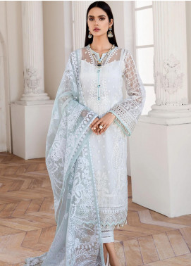 Mahpare by Jazmin Embroidered Net Unstitched 3 Piece Suit JZ20M 01 Esfir - Luxury Collection