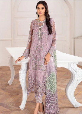 Mahpare by Jazmin Embroidered Net Unstitched 3 Piece Suit JZ20M 02 Azel - Luxury Collection
