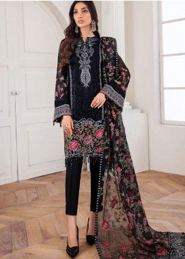 Mahpare by Jazmin Embroidered Chiffon Unstitched 3 Piece Suit JZ20M 03 Mehlika - Luxury Collection