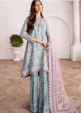 Mahpare by Jazmin Embroidered Chiffon Unstitched 3 Piece Suit JZ20M 04 Liana - Luxury Collection