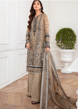Mahpare by Jazmin Embroidered Chiffon Unstitched 3 Piece Suit JZ20M 07 Nirush - Luxury Collection