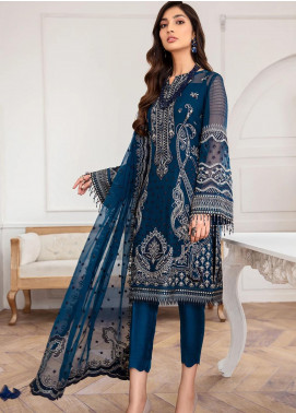 Mahpare by Jazmin Embroidered Chiffon Unstitched 3 Piece Suit JZ20M 08 Kaavish - Luxury Collection