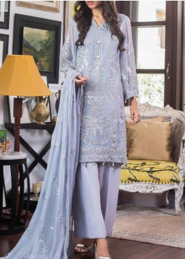 Jazmin by Zohan Textiles Embroidered Chiffon Unstitched 3 Piece Suit ZT20PC 04A - Luxury Collection