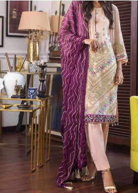 Jazmin by Zohan Textiles Embroidered Chiffon Unstitched 3 Piece Suit ZT20PC 05A - Luxury Collection