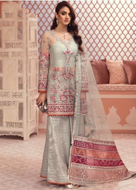 Jeem Embroidered Net Unstitched 3 Piece Suit JM19W FEROZE 2 - Wedding Collection