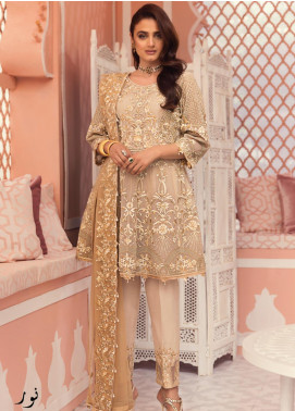Jeem Embroidered Net Unstitched 3 Piece Suit JM19W NOOR 6 - Wedding Collection