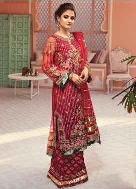 Jeem Embroidered Net Unstitched 3 Piece Suit JM19W PARIZAAT 1 - Wedding Collection