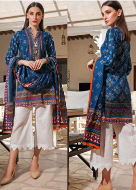 Jhalak by Ittehad Textiles Printed Lawn Unstitched 3 Piece Suit IT20J 1521 B - Spring / Summer Collection