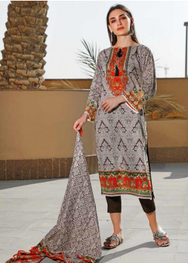 Jhalak by Ittehad Textiles Printed Lawn Unstitched 3 Piece Suit IT20J 1524 A - Spring / Summer Collection