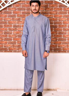 Jharokay Wash N Wear Casual Kameez Shalwar for Men - JR20MW JMKP-01 Grey