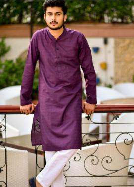 Jharokay Wash N Wear Casual Men Kameez Shalwar - JR20MW JMKP-04 Purple