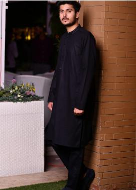 Jharokay Wash N Wear Casual Men Kameez Shalwar - JR20MW JMKP-07 Black