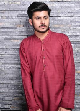 Jharokay Wash N Wear Casual Kameez Shalwar for Men - JR20MW JMKP-08 Maroon