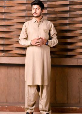 Jharokay Wash N Wear Casual Men Kameez Shalwar - JR20MW JMKS-02 Fawn