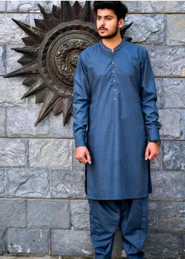 Jharokay Wash N Wear Casual Kameez Shalwar for Men - JR20MW JMKS-03 L-Grey