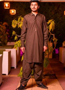 Jharokay Wash N Wear Casual Men Kameez Shalwar - JR20MW JMKS-06 Brown