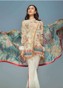 Jahanara Embroidered Lawn Unstitched 3 Piece Suit JN18F 08 - Festive Collection