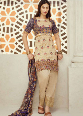 Jahanara Embroidered Lawn Unstitched 3 Piece Suit JN18F 10 - Festive Collection