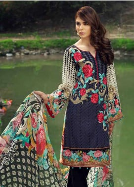 Jahanara Embroidered Lawn Unstitched 3 Piece Suit JN18L 05 - Spring / Summer Collection
