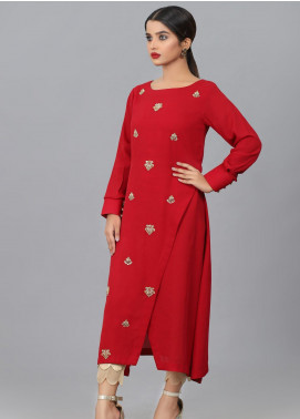 Kaara Embroidered Georgette Stitched Kurtis KA20W KR-593