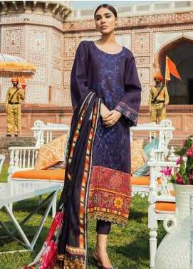 Kaasni by Panache Embroidered Lawn Unstitched 3 Piece Suit PN20K4 - Spring / Summer Collection