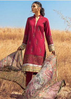 Kalyan By ZS Embroidered Chikankari Unstitched 3 Piece Suit ZS21KC D-01 - Festive Collection