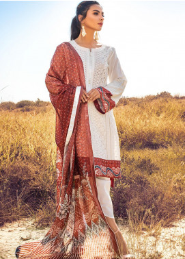 Kalyan By ZS Embroidered Chikankari Unstitched 3 Piece Suit ZS21KC D-06 - Festive Collection